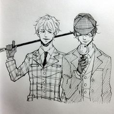 Kit and Ty, as Sherlock and Watson! XD Just like Ty wanted