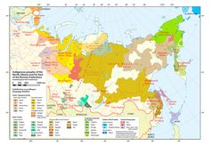 Indigenous Peoples of Arctic Russia by WK Dallmann #map #russia