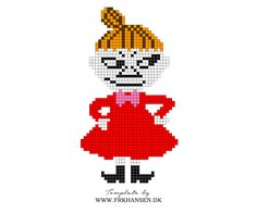 Little My Moomin Hama Perler Bead Pattern Tapestry Crochet Patterns, Fair Isle Knitting Patterns, Knitting Charts, Hama Beads Design, Hama Beads Patterns, Beading Patterns Free, Cute Cross Stitch, Beaded Cross Stitch, Cross Stitch Patterns