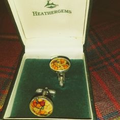 Heathergem Pewter Cuff Links - Charles Buyers & Company, Scotland