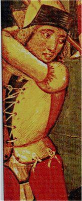 Flagelación, predela Pasión de Cristo, siglo XV iglesia de Nuestra Señora de la Peña de Agreda, Soria (detalle)