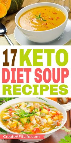 Check out these delicious keto soup recipes great for ketosis and losing weight fast. Check out these delicious keto soup recipes great for ketosis and losing weight fast. Diet Soup Recipes, Low Carb Dinner Recipes, Keto Soup, Lunch Recipes, Breakfast Recipes, Healthy Recipes, Dessert Recipes, Breakfast Gravy, Breakfast Bars