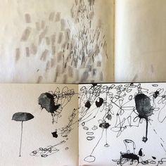 Drawing happens. #lariwashburn #sketchbooks #drawing