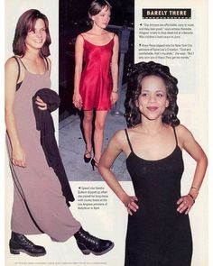 The 90s slip dress trend. I love how Sandra Bullock and Rosie Perez went to premiere's in such an effortless/ chill vibes style.