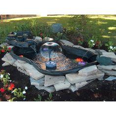 Shop maccourt 125 gallon high density polyethylene pond for Koi pond kits lowes