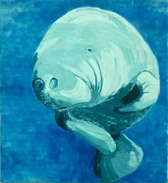 manatee oil painting - Google Search