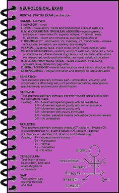 Neurological exam. Maxwell Quick Medical Reference [pinterest.com/pin/287386019947070066/], ISBN 978-0-9645191-4-5 #neurology