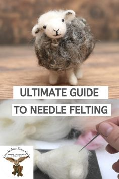 Ultimate Guide To Needle Felting: Unlock Your Inner Creative - Create yourself happy with a crafternoon of needle felting. My ultimate needle felting guide is cram - Wet Felting, Needle Felting Kits, Needle Felting Tutorials, Needle Felted Animals, Felt Animals, Felt Fox, Felt Bunny, Felt Birds, Amazing Animals