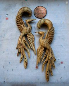 LOVE. these. who says gauges ears can't be beautiful?