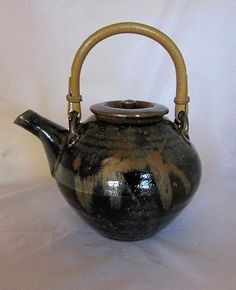 Bill Marshall, ex Leach Pottery St Ives, fantastic tenmoku teapot
