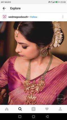Top 13 Traditional South Indian Wedding Jewellery Trend of This Year südindischer Hochzeitsschmuck South Indian Jewellery, Indian Wedding Jewelry, Indian Jewelry, Bridal Jewelry, Indian Bridal, Bridal Mehndi, Mode Renaissance, Engagement Saree, Ideas Joyería
