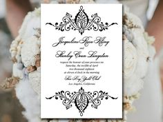 "Invitation Template Word Brilliant Diy Wedding Invitation Template  Lilac Invitation ""grand Flourish ."