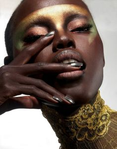 Ideas fashion black skin make up for 2019 African Beauty, African Women, African American Beauty, Dark Skin Beauty, Beauty Shoot, Monochrom, My Black Is Beautiful, Creative Makeup, Interesting Faces