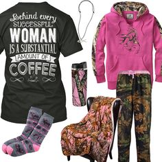 Behind Every Successful Woman Is A Substantial Amount Of Coffee Outfit - Real Country Ladies Country Girl Look, Cute Country Outfits, Cute Casual Outfits, Country Life, Country Style, Camo Girl Outfits, Biker Outfits, Girly Outfits, Fashion Now