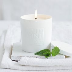 Wild Mint is a bright and refreshing scent - like having a fresh mint herb pot in your home - which combines peppermint and spearmint with a touch of white tea. Our Wild Mint signature candle comes in a white ceramic holder, which give White Company Candles, The White Company, Scented Candles, Pillar Candles, Candle Jars, Home Design, Mint Herb, Herb Pots, Luxury Candles