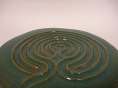 Adventurine Glaze Finger Labyrinth by sevenstonespottery on Etsy, $125.00