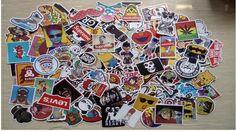 Wholesal!Skateboard Vintage Vinyl Laptop Luggage Car Decals Dope Sticker Lot B83