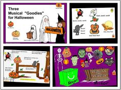 "SMARTBoard Music Lesson: 3 Musical ""Goodies"" for Halloween - just a little more"