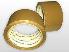 6 RollenPaketband Klebeband Packband Braun 48mm x 66m 6 Rollen Klebebänder braun   Klebebänder \ PP - Klebebänder braun  