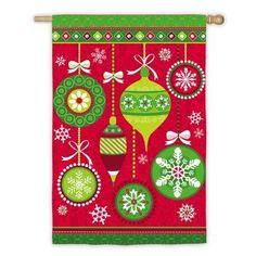 Evergreen Enterprises, Inc Merry Christmas Ornaments 2-Sided Garden Flag