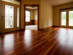 Clean Hardwood Floors Use boiling water and two teabags.   The tannic acid in tea creates a beautiful shine for hardwood floors. Let two teabags steep in the boiling water for a few minutes. Pour the tea into a bucket. Take a soft cloth and wring it out in the tea. The cloth merely needs to be damp, not soaked. This will enable the floor to dry quickly. Wash the floor and be ready to be amazed by the sheen... and no sticky or oily residue