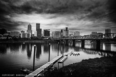Portland Oregon Skyline Black and White by ThePDXPhotographer, $250.00