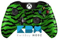 Green Tiger Camo Xbox One Controller- KwikBoy Modz #customcontroller #gaming #xboxone #xboxonecontroller #moddedcontroller #controller #gamer