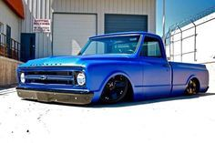 """""""Hot Wheels - Nice piece of goodness right here igers, pretty cool colour and that stance is on point! 67 72 Chevy Truck, Chevy C10, Chevy Trucks, Chevrolet, Bagged Trucks, Gm Trucks, Pickup Trucks, Custom Trucks, Custom Cars"""