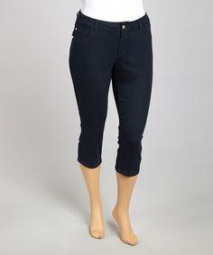 f9f46aa2703 Look at this  zulilyfind! Midnight Flap Pocket Capri Pants - Plus   zulilyfinds Vacation