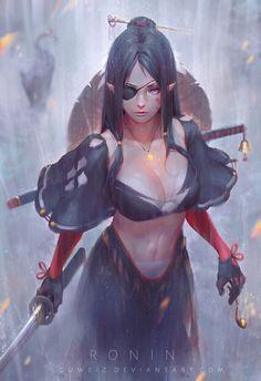Image in Random Anime/Manga/Digital Art collection by Grace⊰ Warrior Girl, Fantasy Warrior, Fantasy Samurai, Female Samurai Art, Female Elf, Samurai Concept, Elf Warrior, Ninja Warrior, Female Anime