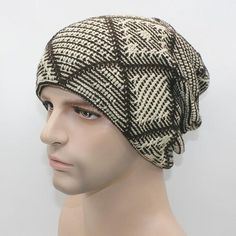 Mens and Womens Solid Pattern Knit Warm Beanie