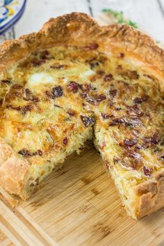 Gruyère, Bacon and Leek Quiche | www.oliviascuisine.com