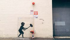 Street Art, Urban, Banksy, Wall