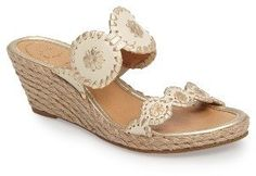 Women's Jack Rogers 'Shelby' Whipstitched Wedge Sandal - $147.95