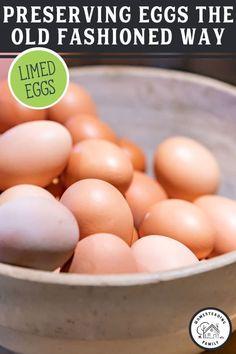 Bad Eggs Test, Egg Test, Canning Recipes, Egg Recipes, Real Food Recipes, Food Tips, Food Ideas, Preserving Eggs, Food Grade Buckets
