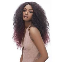 Harlem 125 Synthetic Lace Front Long Latin Wave Wig JU910