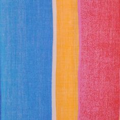 Sky Blue/Sunshine/White/Pink Multicolor Bold Stripes Cotton Woven - Fashion Fabrics