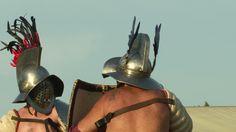 AQUILEIA - JUNE 22: Roman gladiator game during the reenactment Tempora Aquileia on June 22, 2013 in Aquileia, Italy