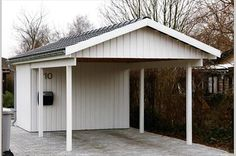 Car port with one side as privacy fence | Carports | Pinterest | Car ...