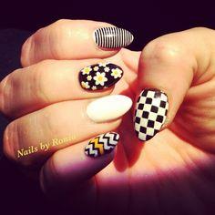 black + white + yellow