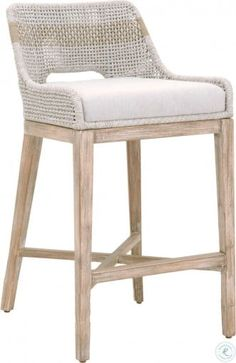 Our Turin Bar Stool features an intricately woven rope design, adding flair to any dining or casual living setting. Shop bar and counter stools. Counter Height Stools, Decor, Furniture, Home Decor Kitchen, Decor Essentials, Kitchen Remodeling Projects, Home Decor, Counter Stools, Stool