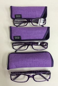 4401c90bd7c LOT OF 3 Foster Grants Reading Glasses  Dazzling Purple +1.75 NEW   FosterGrant
