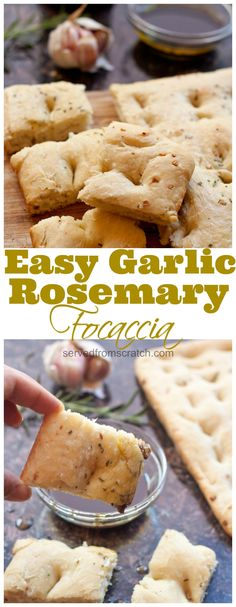 Make your own soft, salty Easy Garlic Rosemary Focaccia bread at home with just a couple of ingredients and minimal work! Make your own soft, salty Easy Garlic Rosemary Focaccia bread at home with just a couple of ingredients and minimal work! Tasty Bread Recipe, Bread Recipes, Real Food Recipes, Mexican Dessert Recipes, Brunch Recipes, Good Food, Yummy Food, Delicious Recipes, Amazing Recipes