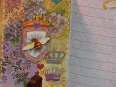 Royal Bee Journal With Gold & Crystal Accent. $5.95, via Etsy.