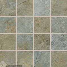 "Franciscan Slate 3"" x 3"" - Coastal Azul Mosaic By SouthCypress.com"