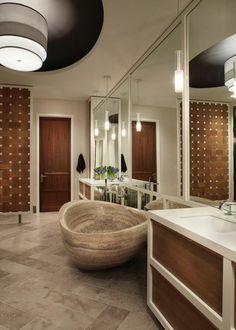 badeinrichtung naturstein badewanne luxus badezimmer