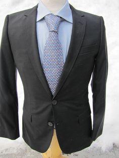 6021f56dd Hugo Boss Black jacket Size 34 R Super 120's SOLID BLACK Formal Suit Jacket  #HugoBoss #TwoButton #auction #ebay #luxury #menswear