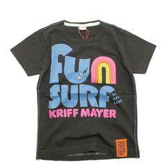 KRIFF MAYER(クリフメイヤー):オリジナルグラフィックT(FUN SURF) チャコール(3) の通販【ブランド子供服のミリバール】