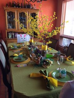 My Easter table  decor:)