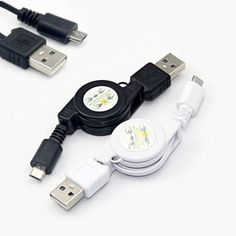Modem Cables Black White Micro Usb A To Usb 2.0 B Male Retractable Data Sync Charger Cable Cord For Android Universal Samsung Lg Cheap Cables From Mayiandjay, $0.24